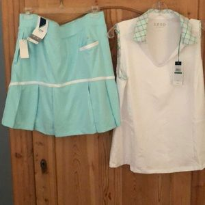 Izod Golf/Tennis shirt and skirt set